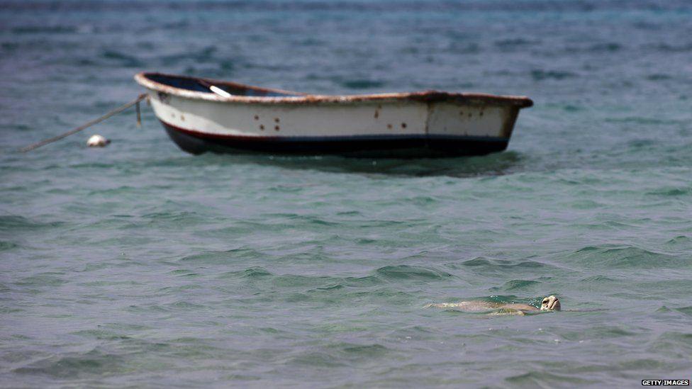A boat off the coast of Bermuda