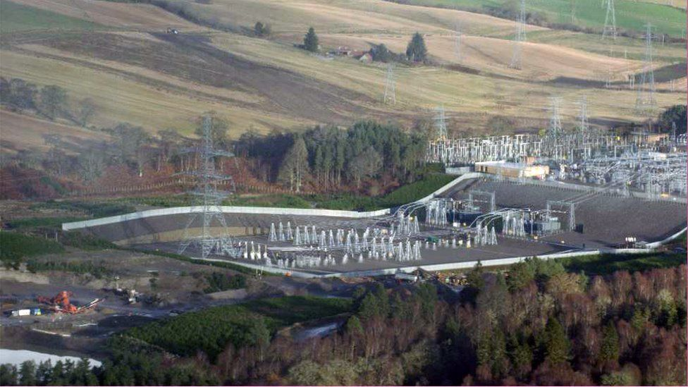 The Beauly substation near Inverness is the start of the transmission line