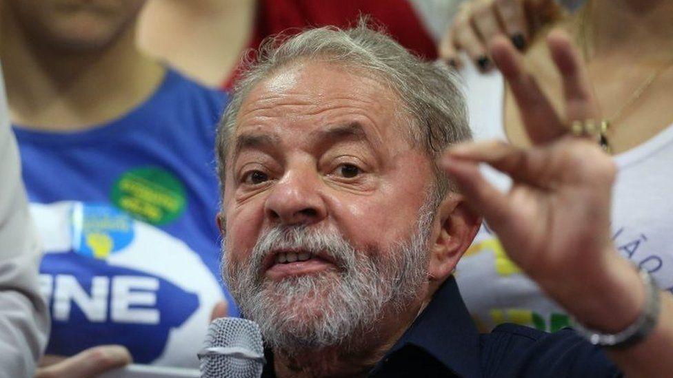 A file picture dated 04 March 2016 shows Brazilian former President Luiz Inacio Lula da Silva during a press conference in Sao Paulo, Brazil.