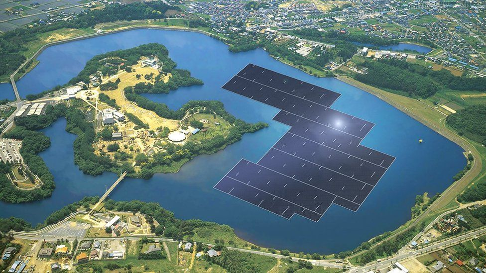 Kyocera graphic of world's largest solar farm