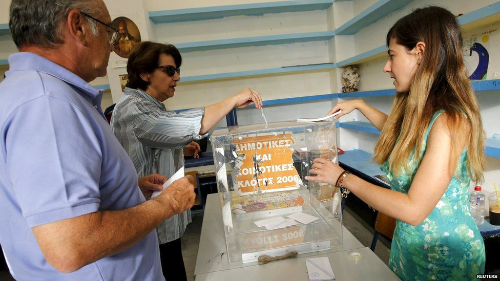 Voters in Greece