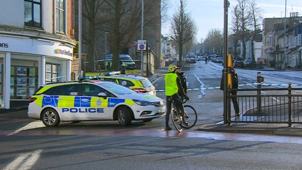 Sussex Police at the scene