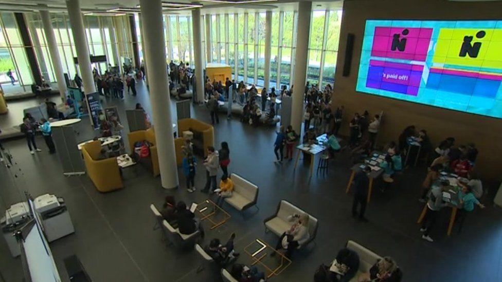 Learning hub at the University of Northampton.
