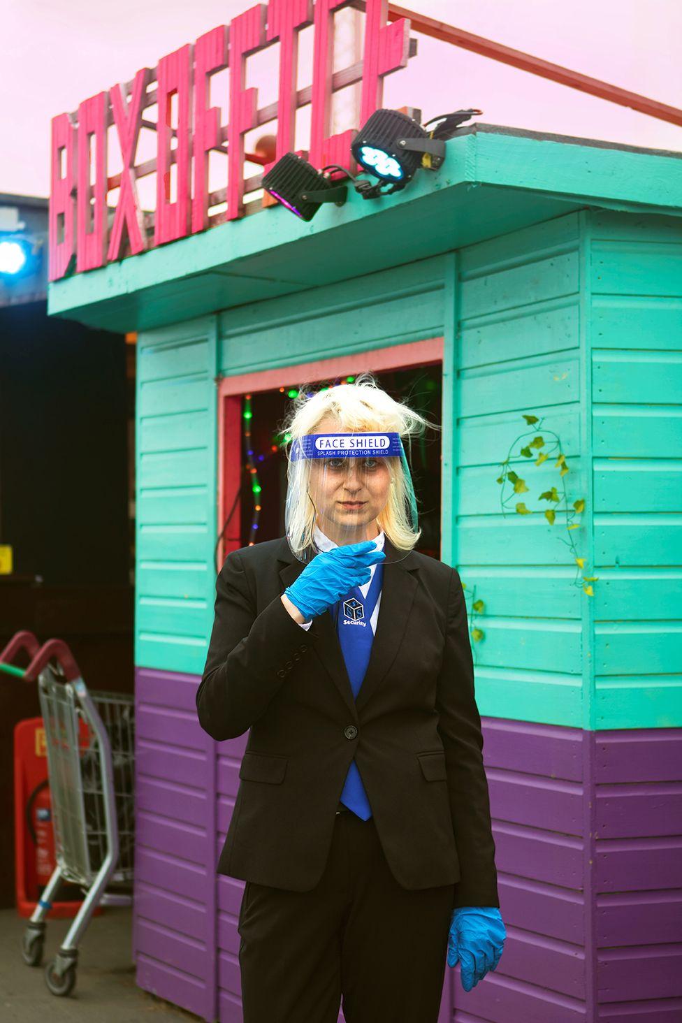 Birute, staff member at Roof East, Stratford, London. 4 July 2020