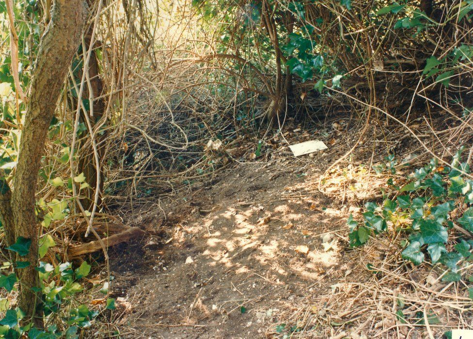 The area where the girls' bodies were found
