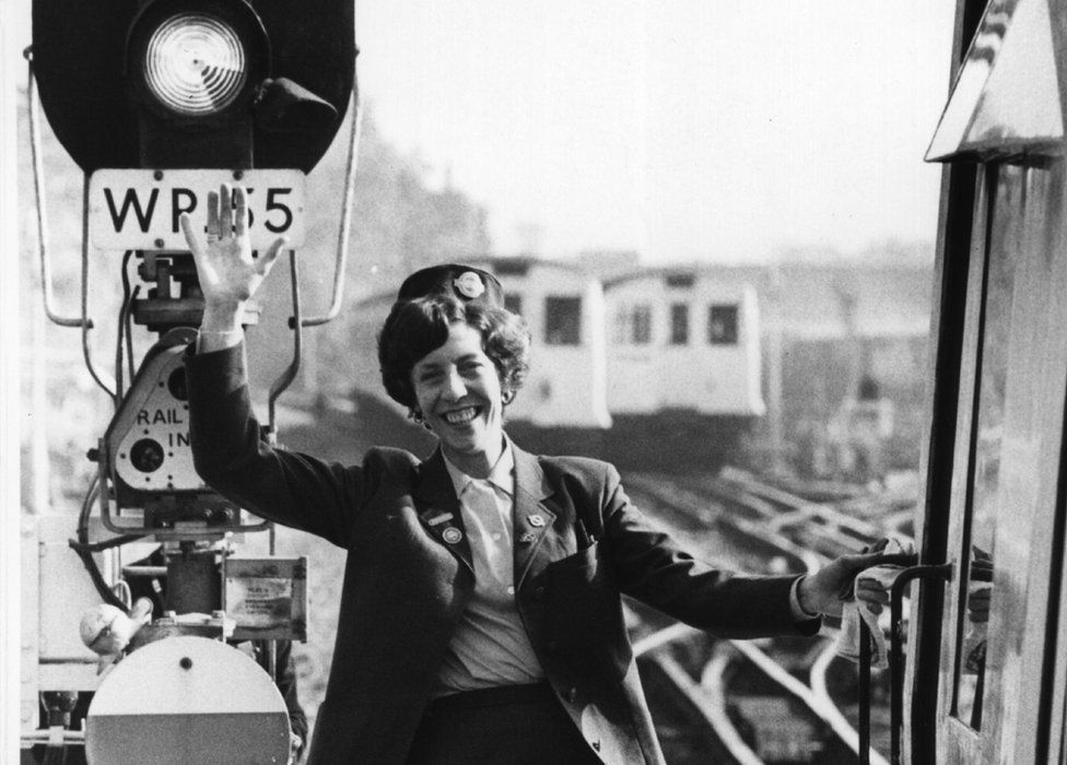 6th October 1978: Ann Dodds prepares to drive a London Underground train. She is the company's first woman driver