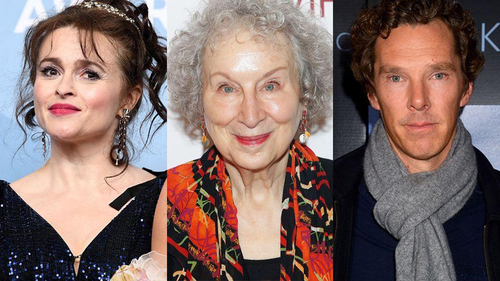 Helena Bonham Carter, Margaret Atwood and Benedict Cumberbatch