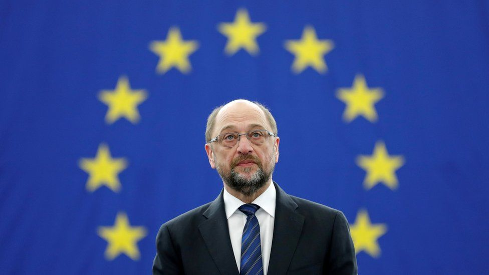 Outgoing President of the European Parliament President Martin Schulz in Strasbourg, 16 January 2017