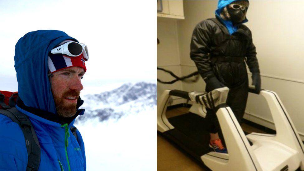 Luke Robertson preparing for South Pole