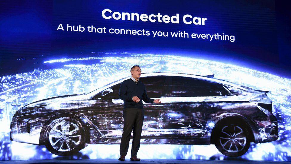 Hyundai vice chairman Euisun Chung talks about connected cars in Las Vegas