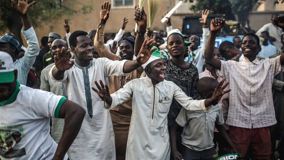 APC supporters celebrating