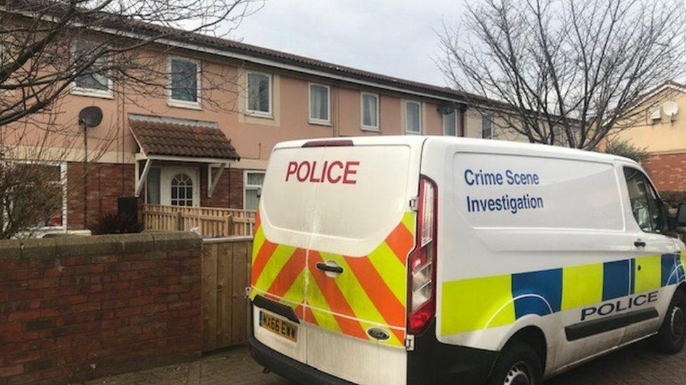 Police van at Malham Gill