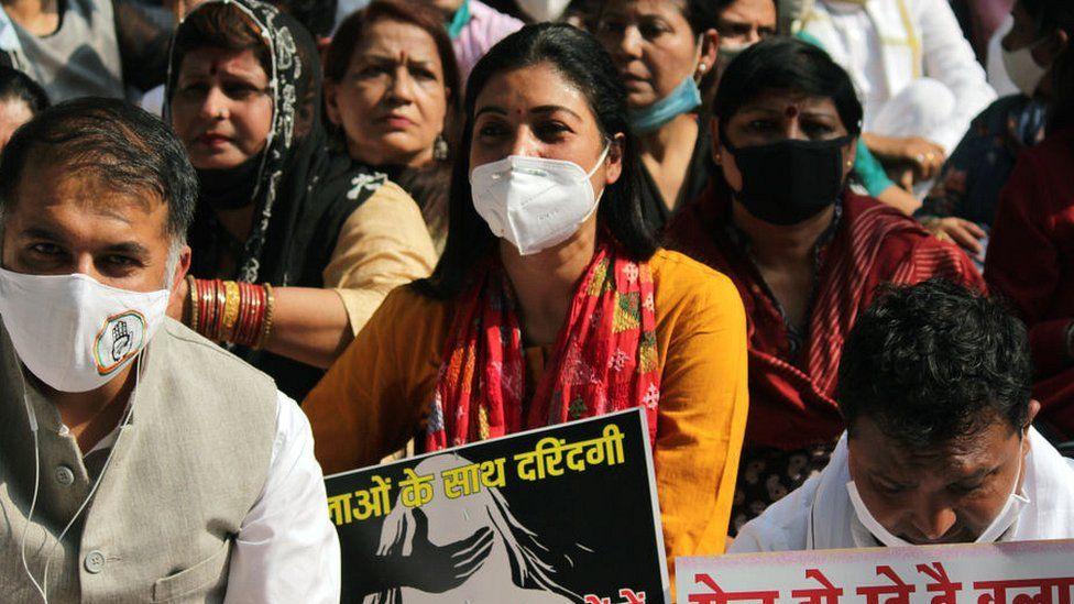 Jantar Mantar protest over Hathras rape