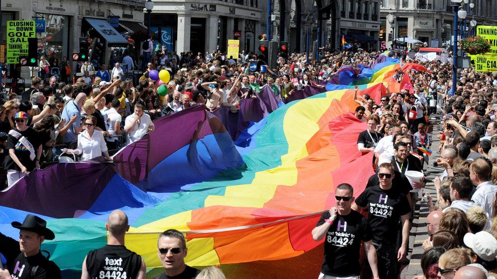 Gay Pride parade in London