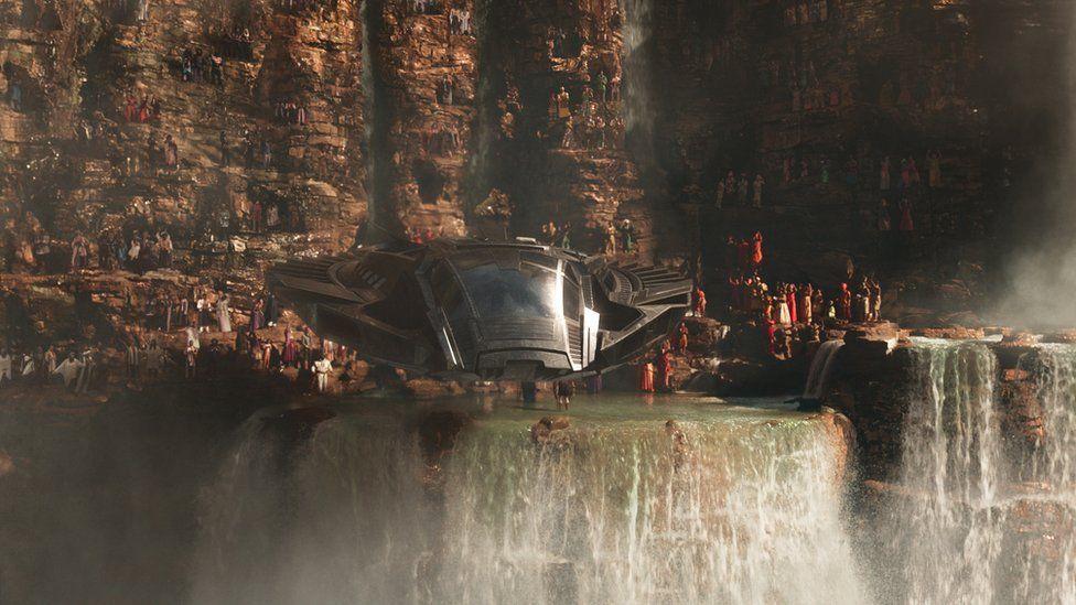 A Wakanda battleship in Black Panther