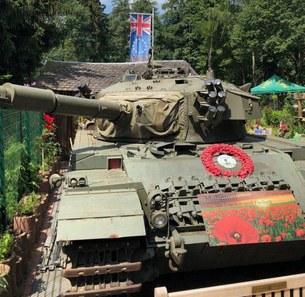A 52-tonne tank