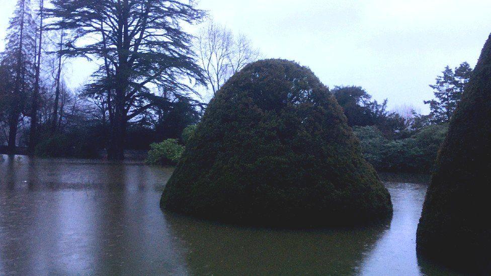 Water in the grounds of Gwydir Castle in Llanrwst