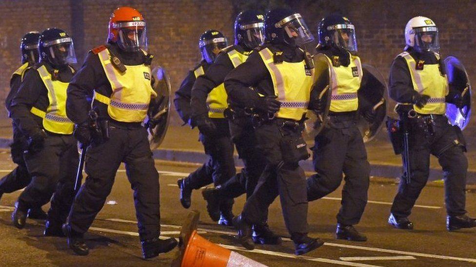 Met Police riot officers