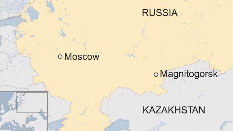 Russia Magnitogorsk map