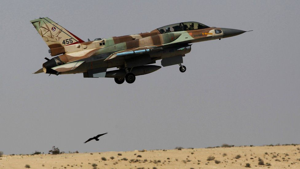 File photo showing Israeli Air Force F-16 takes off from Ramon air base in southern Israel (21 October 2013)
