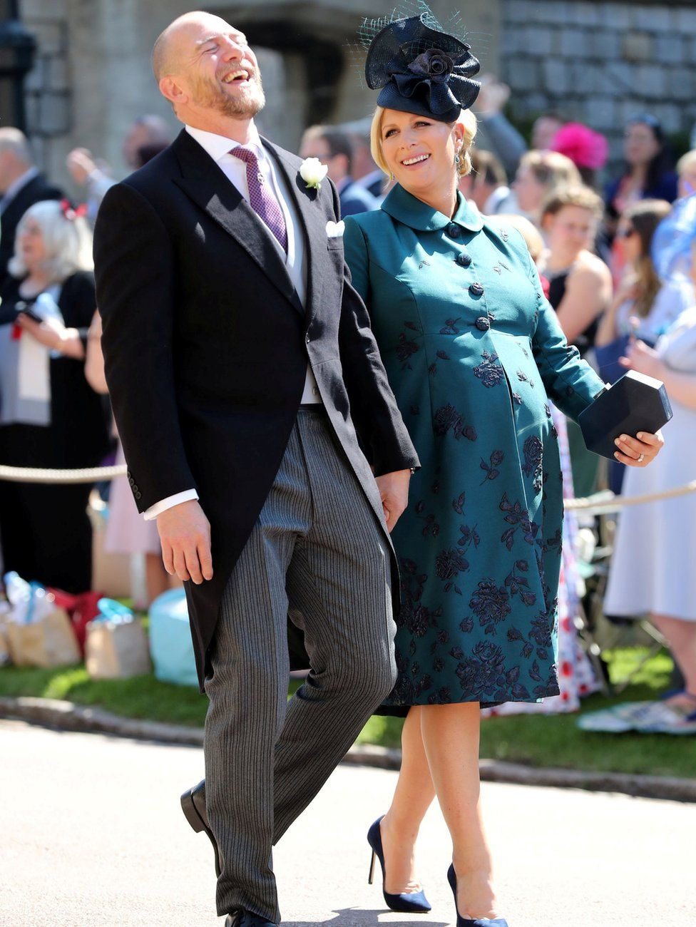 Mike Tindall and Zara Tindall arrive for the wedding of Meghan Markle and Prince Harry