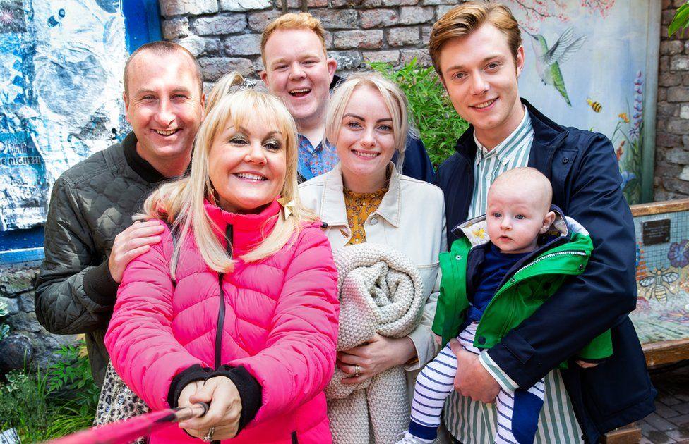 Coronation Street's Sinead Osbourne with her soap family