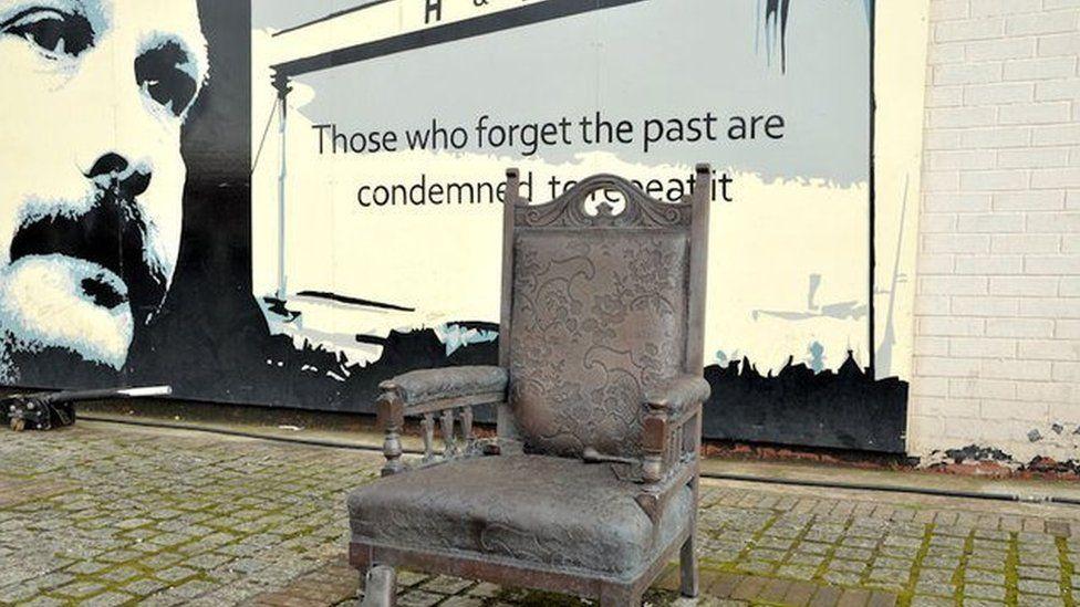 The east Belfast memorial was erected after David Ervine's death
