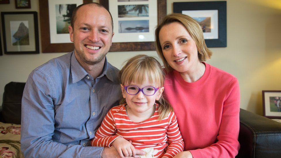 Mum, dad and Georgia