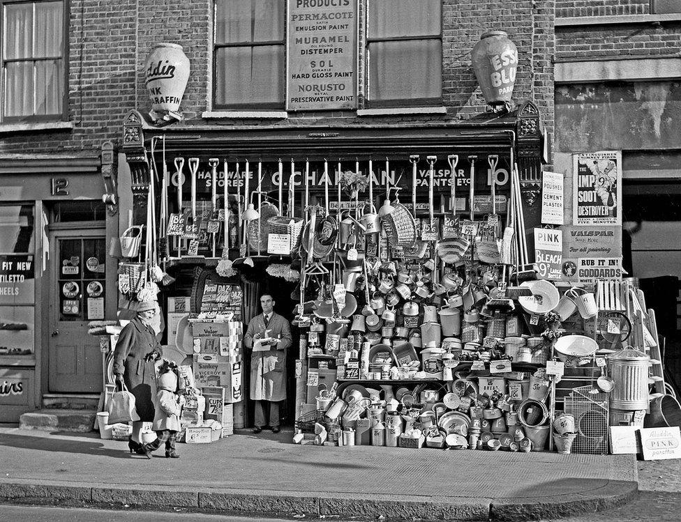 Hardware shop, 1957