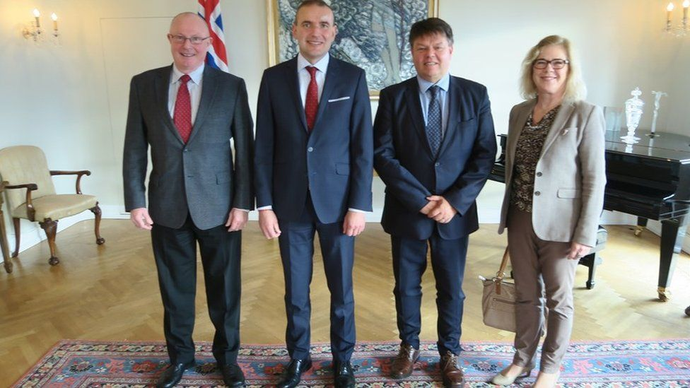Gudni Thorlacius Johannesson (second from left) meets officials of the World Meteorological Organisation