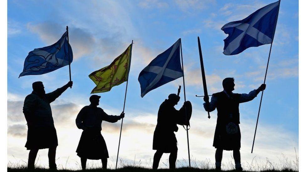 A Scottish referendum campaign demonstration in 2014