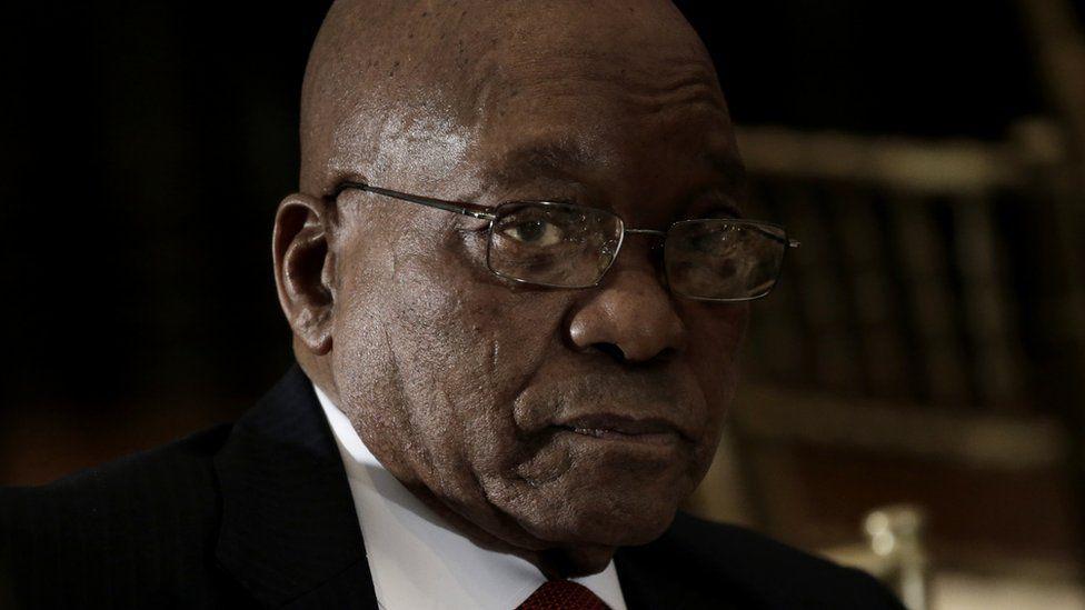 Portrait of Jacob Zuma, President of South Africa.