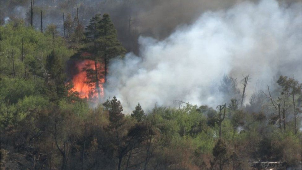 Fire near Castlewellan