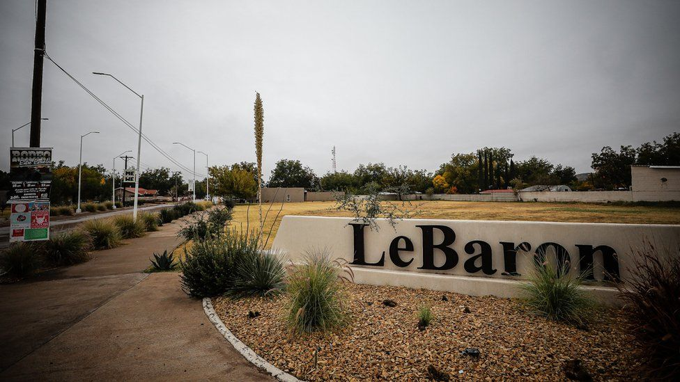 The entrance to the LeBaron community