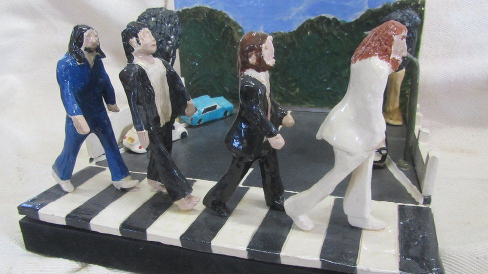 Beatles, Rolling Stones and more album covers as pottery