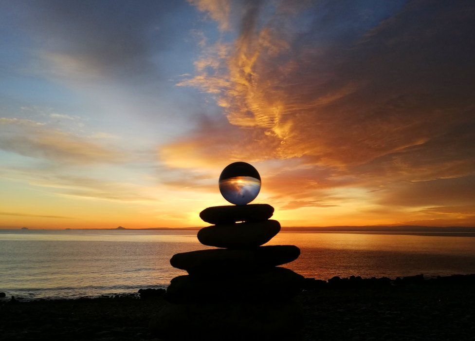 Sunrise at West Wemyss beach, Fife