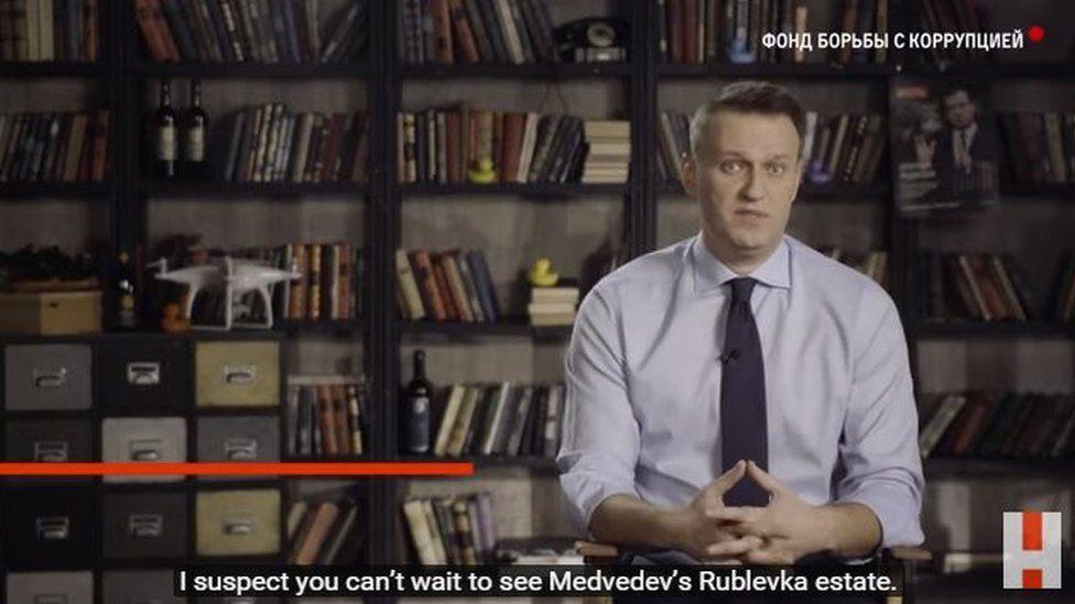 Alexei Navalny screenshot from YouTube
