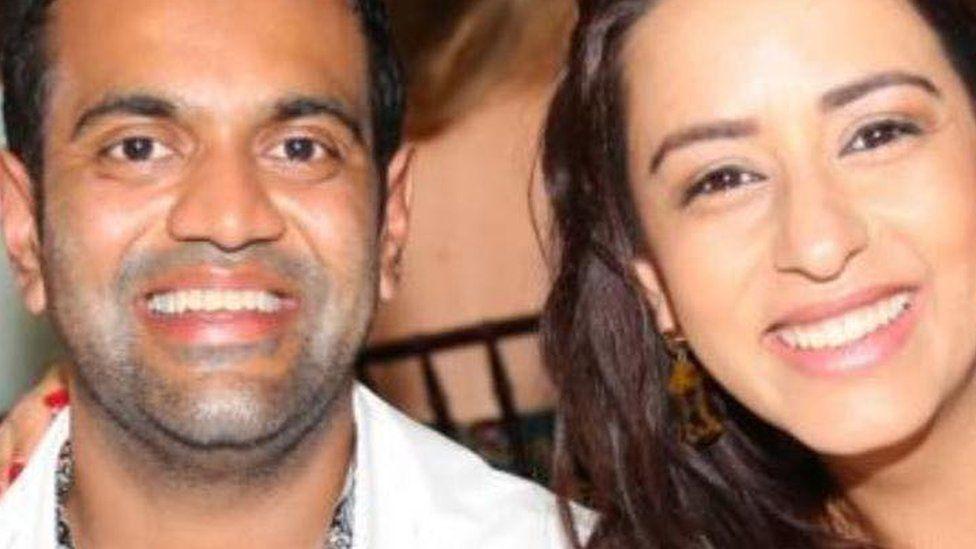 Ria Lakhani and her husband Mitul Patel