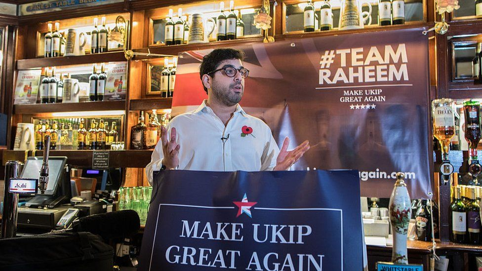 Raheem Kassam during his brief campaign for the UKIP leadership