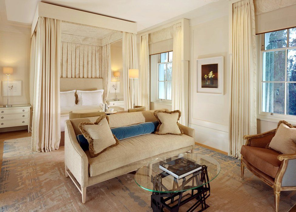 A junior suite at Coworth Park