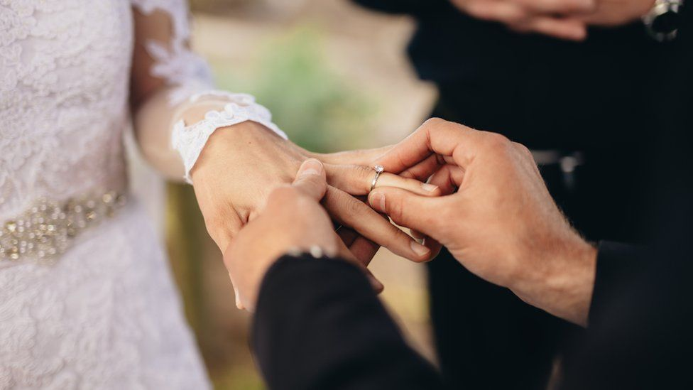 Stock image of wedding ceremony