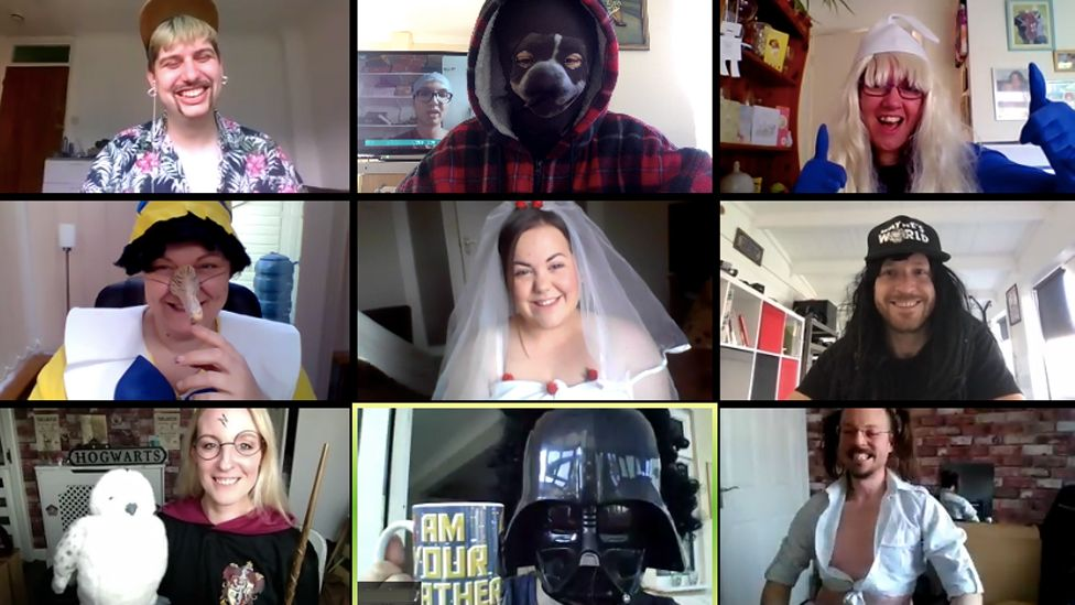Dragon CoWorking fancy dress video call