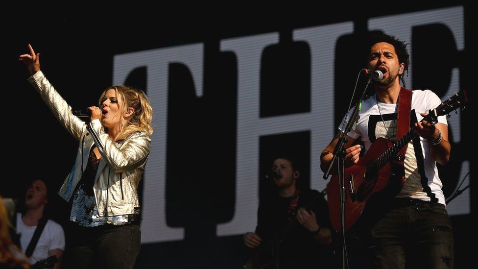 The Shires performing at Scone Palace