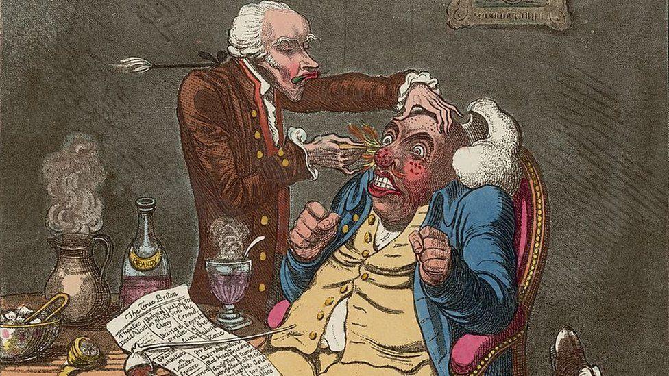Quack doctor cartoon 1801