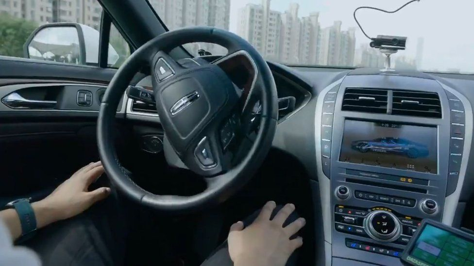 A Didi self-driving car in action