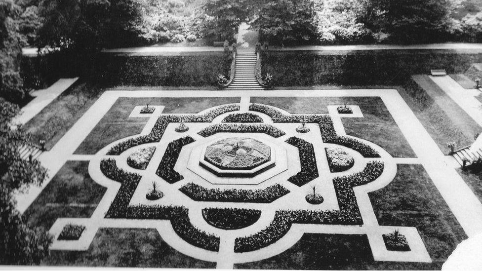 Victorian garden at Gawthorpe Hall