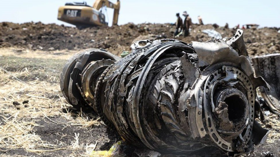 Crash site of The loss of Ethiopian Airlines' flight ET302 in March