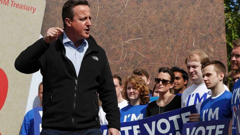 David Cameron with Remain campaigners