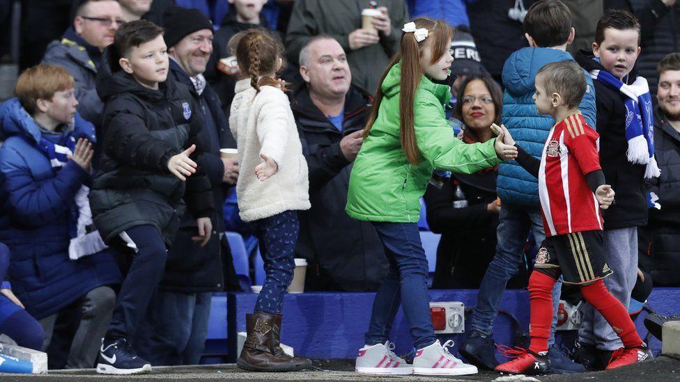 Bradley Lowery at Everton