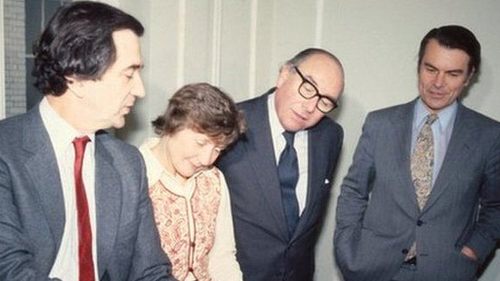 Gang of Four: Bill Rodgers, Shirley Williams, Roy Jenkins and David Owen